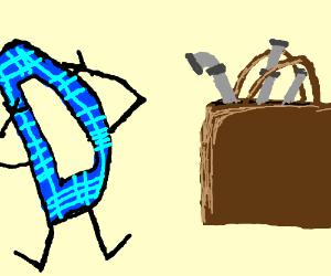 Plaid Drawception logo doesn't like bagpipes.
