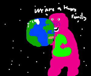 Barney the Dinosaur got the Earth in the end