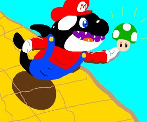 Orca gets a 1-UP mushroom
