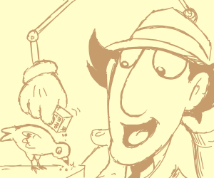 Inspector Gadget and a cute pigeon