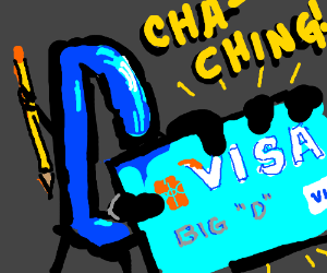 Drawception D's Visa card