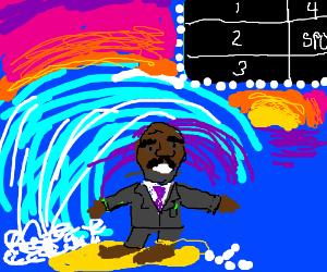 Steve starts surfing