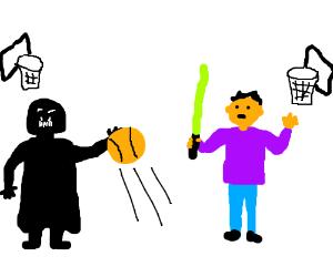 Sith vs Jedi Basketball game