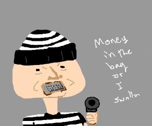 Man eats cheese grater while robbing bank