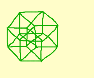 A tesseract, maybe Schlegel diagram octahedral