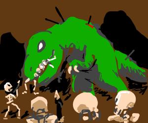 Skeletons vs. Dinosaurs