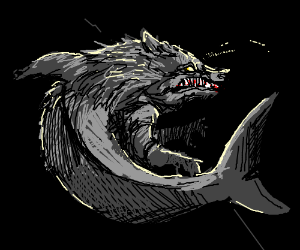 The ungodly fusion of a wolf and shark.
