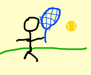 a guy playing tennis