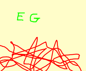 A blue scribble with the letters DF below it