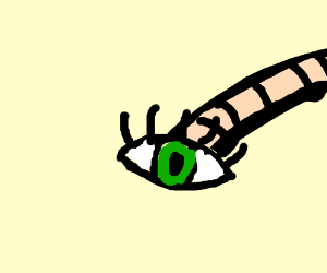 Worm with a large human eye on one end