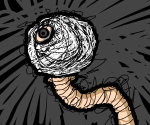 Worm with a golfballhead.Desolationstyle(user)