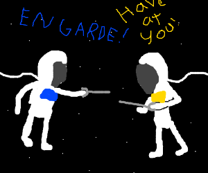 Fencing Astronauts in Space!