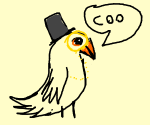 The fanciest pigeon