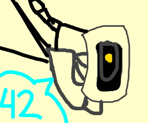 Glados discovered the meaning of life