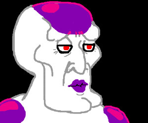 Freiza's final form is handsome Squidward