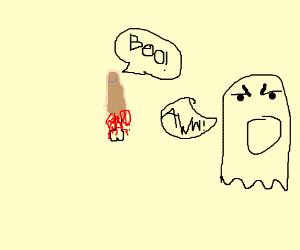 Severed finger scares ghost