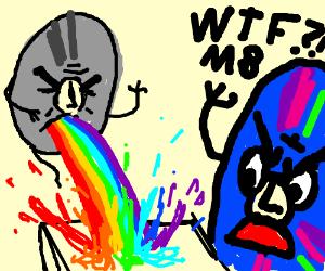 CD rom pukes a rainbow at DVD class