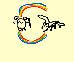 Clock goes WTF m8 at watch puking rainbow