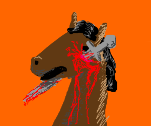 Killing a horse with a sword
