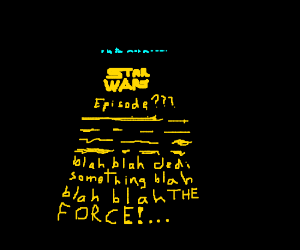 The yellow letter intro to all star wars films