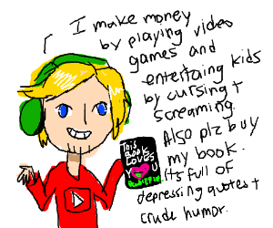 A youtuber explaining his profession
