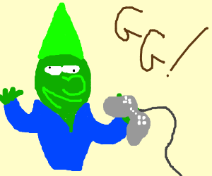 green garden gnome is a player