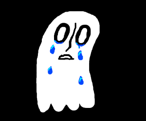A crying ghost