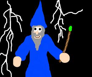 Merlin is happy to practice magic