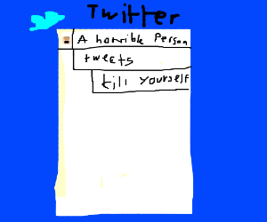 A horrible person's tweet