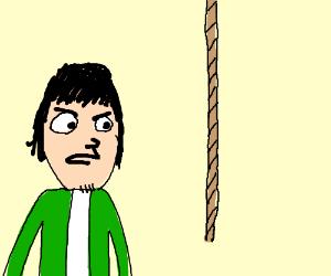 Guy not liking Rope