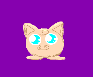 Jiggly puff is a pig