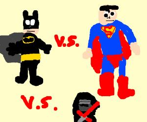 Batman vs Superman vs Kylo ren