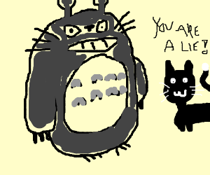 Cat reveals the truth about neighbor Totoro