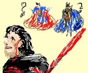 Superman & Batman watch Ben Solo hurt himself
