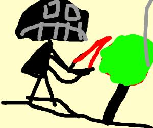 Darth Vader Practices Gardening