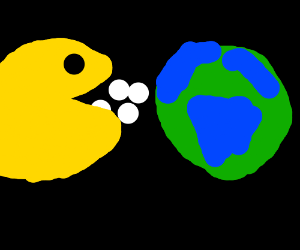 Pacman devours the Earth. NASA is displeased.