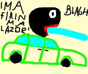 Shoop da Woop on a Green Car