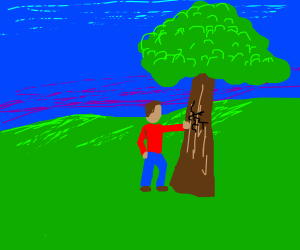 Minecraftterraria Scene But In Real Life Drawception