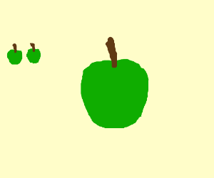 Another green apple, looks like the last two.
