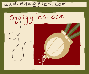 Squiggles.com leads to the onion