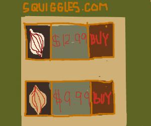 Squiggles.com sells onions.