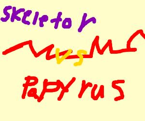 Papyrus vs. Skeletor - Drawception