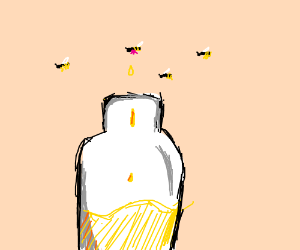 Milking wasps (to make mustard)
