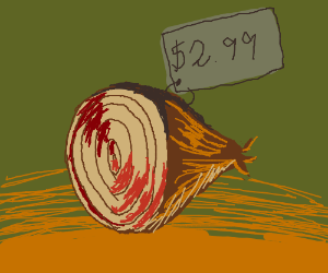 selling brown onions for 2.99