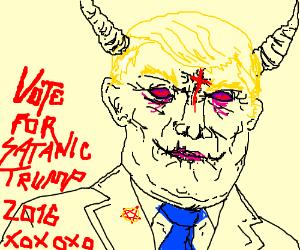 Vote for satanic Trump!