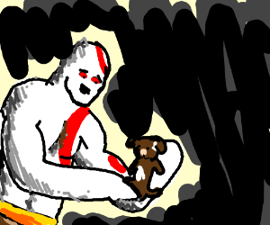 Kratos (God of War) adopts a puppy