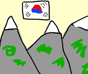Mountains of South Korea (one true korea)