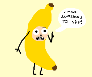 man in a banana costume has something to say  sc 1 st  Drawception & Donald Trump in a banana costume - Drawception
