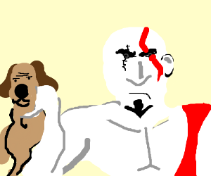 Kratos adopt a new puppy
