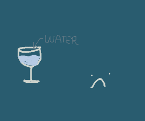 why would you drink water from a wine glass?